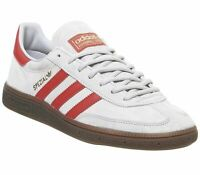 Adidas Handball Spezial Grey Two Hires Red Trainers Shoes