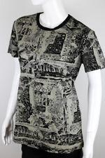 JOHN GALLIANO WOMEN'S PRINTED COTTON SHIRT SIZE XL