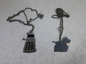 Doctor Who Dalek & K9 Necklaces BBC 1979
