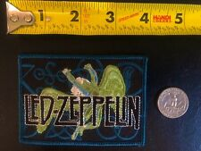 Led Zeppelin blue green Embroidered Patch Robert Plant Jimmy Page
