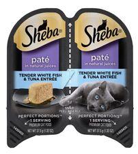 SHEBA Cat Food Tender White Fish And Tuna Pate 12 Each - 24 1.3oz Serving