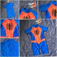 Boys Spider Man Marvel Spiderman Hero Swimming Surf Suit Swim Beach Costume Kids
