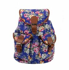 Women's Canvas Satchel Shoulder Backpack School Rucksack Bags Travel Fashion NEW