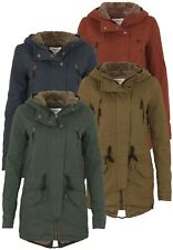 Only Damen Jacke Onlleeona Canvas Parka Jacket | Kapuze lang winter Outdoor