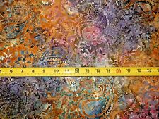 Timeless Treasures Priced per ½ yd Tonga B4864 EARTH  Batik Cotton Fabric