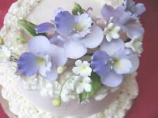"4"" x 7"" Sugar Gum Paste Lavender Violet Orchids Cake Decorating Flowers"