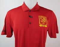 Houston Rockets NBA adidas Men's Red S/S 50th Anniversary Golf Polo Shirt
