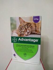 ADVANTAGE¹ 80 anti puces chat/cat de 4 a 8 kg Fleas Treatments boite 4 pipettes