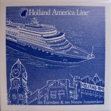 New 2019 Holland America Line Ceramic Coaster Cruise Ship Cork Bottom MS Eurodam
