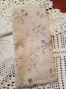 Shabby Chic Floral UNSCENTED eye pillow aromatherapy  CAN HELP STIFF NECK TOO