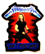 "PEGATINA  VINTAGE  AÑOS  90s  -   METALLICA  "" Don´t Tread On Me """