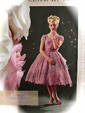"Vintage 1950s Knitting Pattern Lady's ""Whisper"" Dress, Wedding, Prom, Occasion"