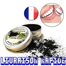 Poudre Dentifrice Pur Coco Blanchissant Noir Activé Charbon Dents Blanchiment