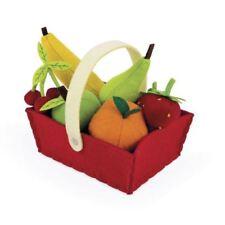 Janod Tissu Fruits Basket With 8 Jouet Fruits 2yrs+