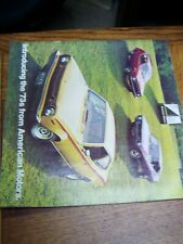 Introducing the '73s from American Motors Brochure Gremlin, Hornet Ame Javelin
