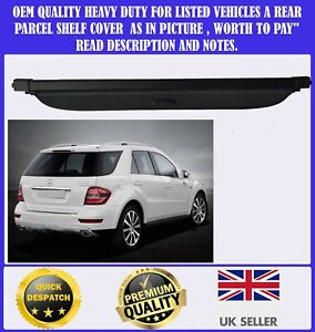 NEW PARCEL SHELF LOAD COVER BLIND FOR MERCEDES ML M CLASS W164 2006-2011 BLACK