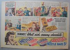 Nestle's Chocolate Bars Ad: John Stayed Downtown ! 1930's-1940's 11 x 15 inches