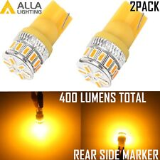 Alla Lighting 2pcs 18-LED Rear Side Marker Lights Bulbs Lamps,Amber Yellow, 194