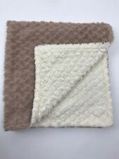Kyle & Deena Baby Blanket Cream Tan Taupe Plush Reversible Security Soft 29x28