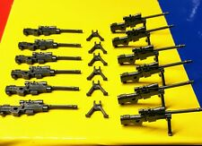 Custom Sniper Rifles for Lego Minifigure Army 6x guns Modern Military Weapons