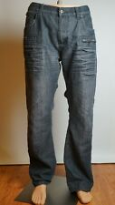 Pierre Cardin Jeans Men's Original W38R/L30 Black Decorated Stylish Good Quality