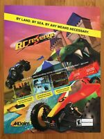 RC Revenge PS1 Playstation 1 2000 Vintage Poster Ad Art Print Racing Official