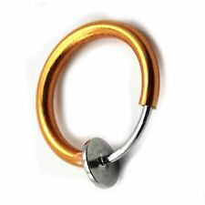 USA Seller Septum Ear Cuff Hoop Fake Nose Ring Piercing Small Body Rhodium & 14k