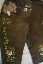 Lady's US sz.8/10.Germany,Trachten,Lederhosen NO Suspenders.Green long.Embroeder
