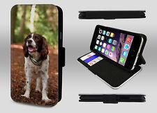 Springer Spaniel Inglés Lindo Cachorro Perro Mascota Cartera De Cuero Teléfono Estuche Con Tapa
