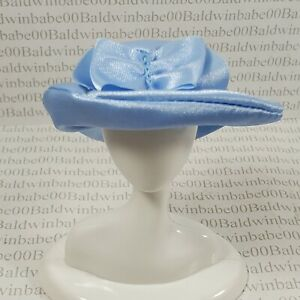 HAT ~ MATTEL BARBIE DOLL CLUELESS CHER BLUE SATIN BOW HAT ACCESSORY CLOTHING