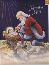 Kneeling Santa Christmas Cross Stitch Kit Janlynn