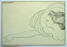 Aubrey Beardsley 1896 Ink on ecru paper 'Flosshilde' study The Savoy -Provenance