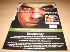 ROBBIE WILLIAMS !!!ESCAPOLOGY!!!!!RARE FRENCH PRESS/KIT