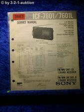 Sony Service Manual ICF A7601 /A7601L Clock Radio (#3863)