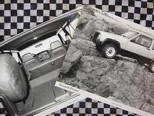 rare LOT PHOTOS PRESSE JEEP CHEROKEE RENAULT 1984