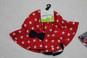 NEW JUMPING BEANS GIRLS SUN HAT RED WHITE BLUE VARIOUS SIZES & STYLES