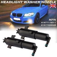 2X LEFT RIGHT HEADLIGHT HEADLAMP WASHER NOZZLE JET SPRAYER For BMW E90 E91 E92