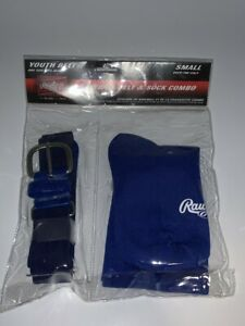 Rawlings Youth Baseball/Softball Belt & Sock Combo - Blue -  Size Small