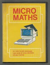 MICRO MATHS - COMMODORE AMIGA GAME - cased with inlay & instructions - TESTED