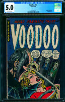 Voodoo 13 CGC 5.0 Ghoul Measures Blonde For Coffin 1954 Ajax Farrell Rare Horror