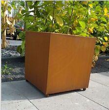 Rost Pflanzschale  Blumentopf Edelrost viereckig Übertopf rost Metall  55 cm