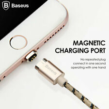 BASEUS MAGNETIC PHONE CHARGER CHARGING CABLE IPHONE 6 6S 5 IPAD IPOD USB GOLD 2