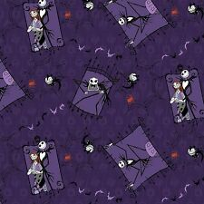 Fat Quarter Nightmare Before Christmas Jack Sally 100% Cotton Quilting Fabric