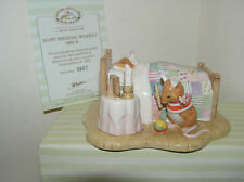 BRAMBLY HEDGE ROYAL DOULTON FIGURE HAPPY BIRTHDAY WILFRED DBH45 LTD ED BOX & CER