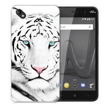 Coque Wiko Sunny 2 Plus + 1 Verre de Protection - Motif Tigre Blanc