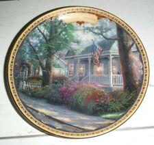 "Thomas Kinkade's Simpler Times ""Celebrate America Hometown Pride"" Plate"