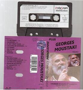 GEORGES MOUSTAKI cassette K7 tape PROGRAMME PLUS vol 1