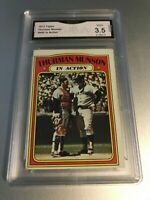 THURMAN MUNSON 1972 Topps #442 In Action GMA Graded 3.5 GMA+