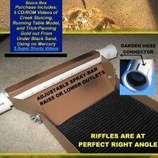 Gold mining paydirt sluice box gold panning prospecting, sluicing Christmas Spec