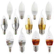 Regulador 3W 5W 6W E14 E27 B22 LED Lámparas de velas Bombillas lámparas de araña Blanco